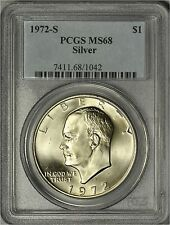1972-S Silver Eisenhower Dollar Pcgs Ms 68