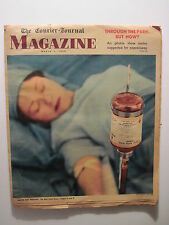 Louisville Courier Journal Magazine 1959: Red Cross- Blood & Disaster! Philco TV