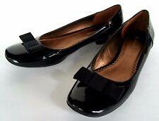 Women's Naturalizer Victory Flats Black Patent Glossy Finish Bow Lolita Size 9 M