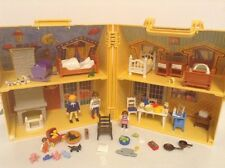 Rare Discontinued Playmobil Take Along House with Figures & Lots of Accessories