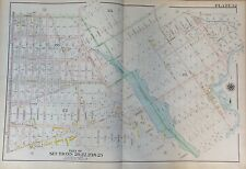1907 GERRITSEN BEACH BROOKLYN, NY AVE P - AVE V ORIG G.W. BROMLEY ATLAS MAP