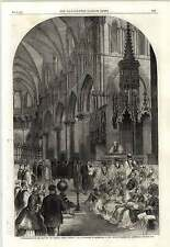 1862 Lord Archbishop Of Canterbury Enthroned Cathedral Choir