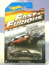 2015 HOT WHEELS FAST & AND FURIOUS DOM'S 1970 DODGE CHARGER R/T MATT BLACK F&F 6