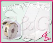 BOX DISPENSER TRASPARENTE x ROTOLO CARTINE RICOSTRUZIONE UNGHIE NAIL ART GEL UV