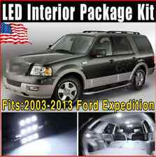19 PCS White Car Interior LED Light Package Deal 2003-2013 For Ford Expedition
