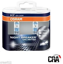 COPPIA LAMPADE H7 12V 55W OSRAM NIGHT BREAKER UNLIMITED