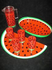 Stotter Watermelon Bowl, Tray, Pitcher w/ Lid, and 4 Glasses