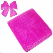 Hot Pink Organza Chair Bows Pack of 6