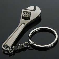 Tool Wrench Spanner Key Chain Ring Keyring Metal Keychain Adjustable