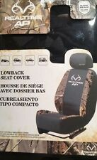RealTree™ AP Front Low Back Seat Covers Camo Black Hunting NEW