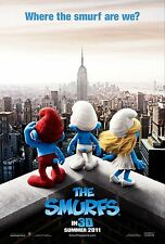 The Smurfs Original Double-Sided Advance Rolled Movie Poster 27x40 NEW 2011