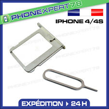 TIROIR SUPPORT CARTE SIM POUR IPHONE 4 / 4S + EXTRACTEUR SIM