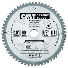 "CMT 281.060.10 Industrial Multi-Purpose 10"" Tablesaw Blade,  60 Tooth"