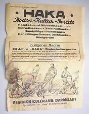 Reklame Prospekt Heinrich Kullmann Darmstadt Landwirtschaft Geräte Bauer um 1935