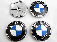 BMW 1 3 5 7 Z3 Z4 X3 X5 SERIES ALLOY WHEEL CENTER CAPS 68mm x4 CENTRE INSERTS