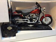 HARLEY DAVIDSON FAT BOY RADIO CONTROL MOTORCYCLE BY NEW BRIGHT NO. 61431