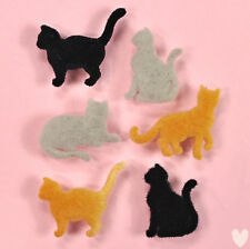 DRESS IT UP Buttons Flocked Country Cats 1751 -  Kittens