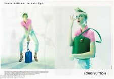 PUBLICITE ADVERTISING 095  1997  LOUIS VUITTON collection sacs LE CUIR EPI ( 2p)