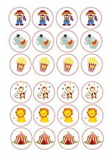 24 Circus clown monkey ND2 edible icing cake toppers decorations