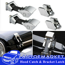 Stainless Steel Hood Catch Lock Latches For 07-17 Jeep Wrangler JK & Unlimited