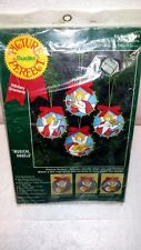 Bucilla Embroidery Kit Christmas Ornaments Stitchery Musical Angels xmas NWT