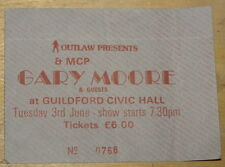 GARY MOORE ~ RARE ORIGINAL USED TICKET ~ GUILDFORD CIVIC HALL ~ 3 JUNE 1986