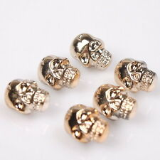 150x 145236 Fashion Halloween Skull Plated UV Rose Gold Acrylic Sew-on Buttons