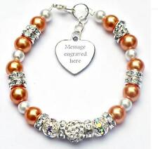 Personalised Engraved Pancreatic Cancer Awareness Bracelet  Fundraising Charity