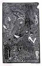 LED ZEPPELIN Psychedelic Hand Signed Posterography Letterpress Graffiti Art