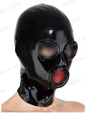 636 Latex Rubber Gummi ring holes Mask Hood catsuit customized cool 0.4mm unique