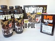 U-POL RAPTOR SUPER TOUGH BLACK URETHANE PROTECTIVE COATING 4 pack