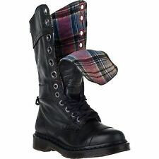 Dr. Martens Women`s Triumph 1914 W Boot Black Plaid US 7 EU 38 UK 5 LAST!