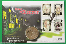 1994 - Gibraltar Crown Coin cover Hound of Baskervilles - UK stamps - SNo38777