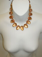 NWT J. Crew Crystal Jeweled Teardrop Stone Necklace NEW #E7491