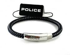 Police Uomo Bracciale nastro intrecciato acciaio inox Scuro Blu pj25137bln.02.l > NUOVO