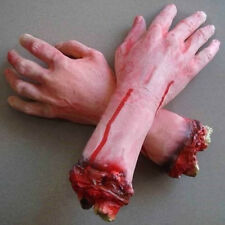 Hot Prop Scary Bloody Severed Cut Off Fake Latex Arm Hand Halloween Party Decor