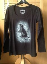 Rock, Goth, Punk, Curious Rat Hand Spray Painted Long Sleeve Top.