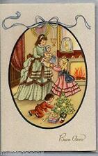 ART DECO Bambini Bambola Albero Buon Anno PC Circa 1930 ITALY Childrens Doll