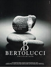 PUBLICITE ADVERTISING 035  1992  BERTOLUCCI  2     collection montres