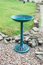 Traditional Resin Bird Bath Table For Garden Feeder Station Outdoor Free Stand
