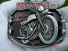 Vincent black shadow motorcycle belt buckle classic bike