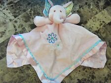 baby girls MARY MEYER BLANKIE ELEPHANT TOY plush PINK flower CLEAN crib SOFT