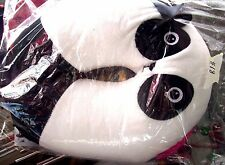 MS.PANDA BEAR TRAVEL PILLOW  GIRL PANDA BEAR WITH PINK BOW PILLOW NEW IN PKG
