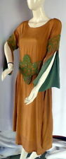 Stunnning 1920s Circa 1922 COPPER SILK DRESS with GLASS BEADING LARGE