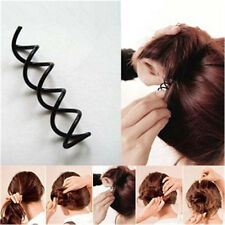 Hair Styling 10pcs Spiral Spin Screw Bobby Pin Hair Clip Twist Barrette Black LM