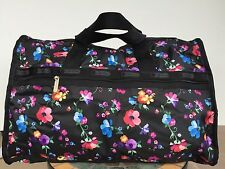 NWT LeSportsac Large Weekender Duffle Travel Bag  Impressionist Flower $118