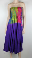 FESTIVAL CLOTHING Indian Hippy Boho Gypsy Vintage Long Dress Sz 8 - 14 NEW #1233