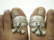 vintage silver toe ring antique toe ring tribal old silver big toe rings