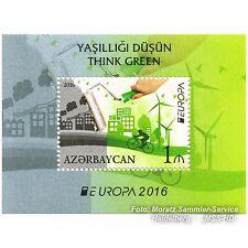 Azerbaiyán Azerbaijan Europa cept 2016, medio ambiente/think Green, bloque postfr. **