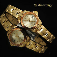 Ladies Invicta Pro Diver 18k GOLD Plated Champagne Dial Women's Bracelet Watch